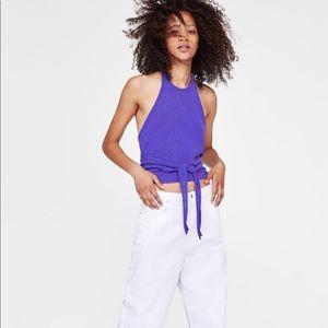 😍NWOT Zara top with open back